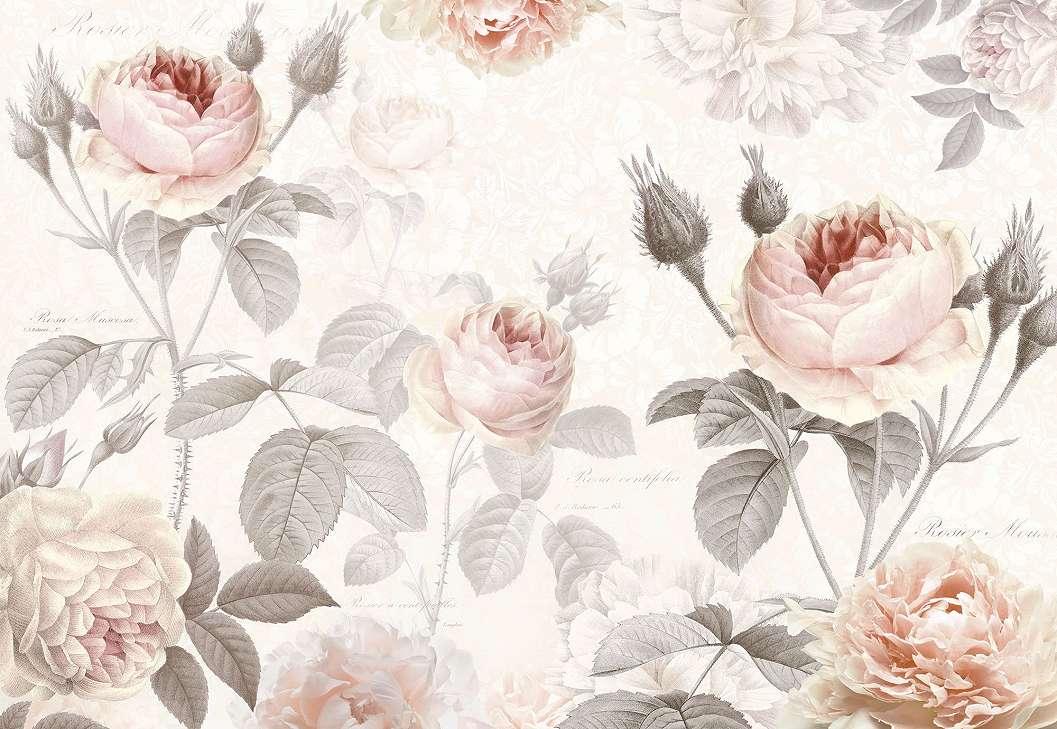 Vintage hangulatú virágok fali poszter