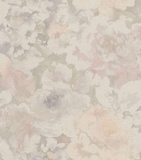 Vintage hatású virág mintás színes tapéta
