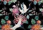 Vintage stílusú fali poszter madár mintával