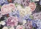 Vintage virágmintás fali poszter színes virágmintával