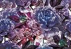 Virágmintás fali poszter lila színvilágban
