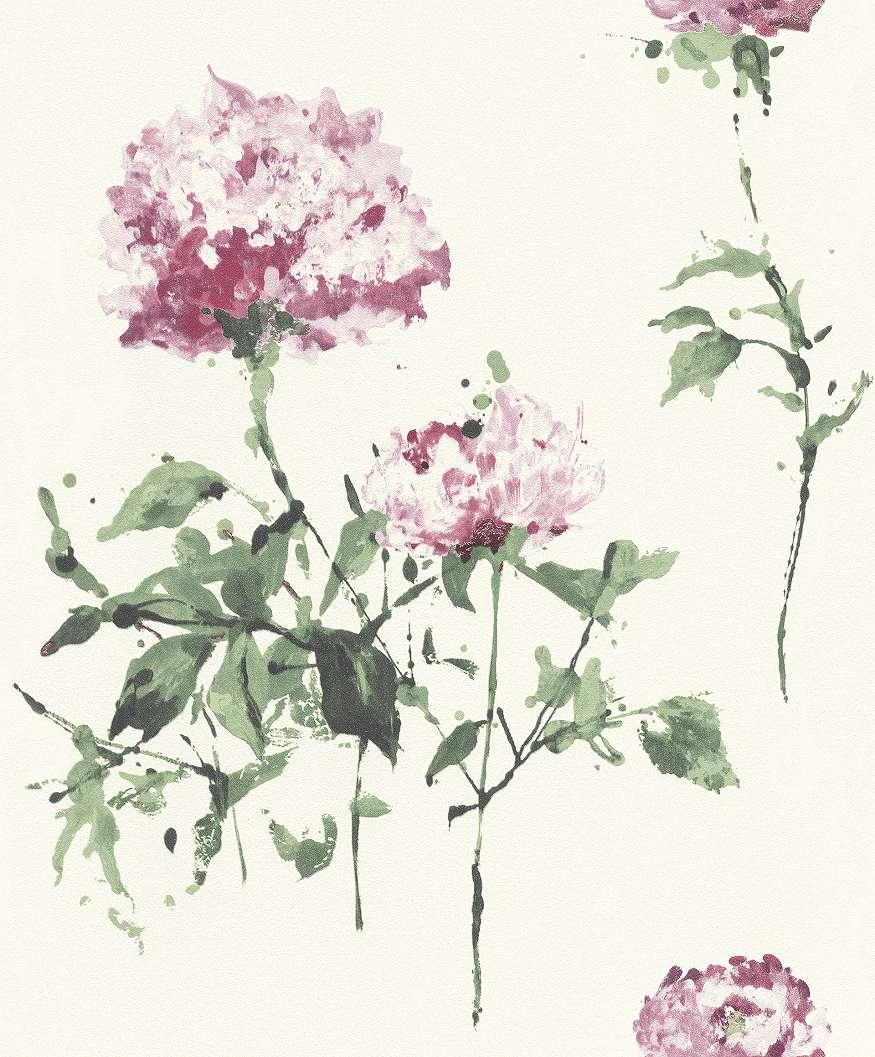 Virágmintás tapéta absztrakt virág mótívummal