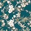 Virágmintás vlies tapéta kék színvilágban