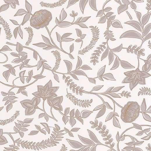 Virágmintás vlies tapéta rajzolt skandináv stílusban