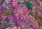 Virágok és madarak absztrakt fali poszter