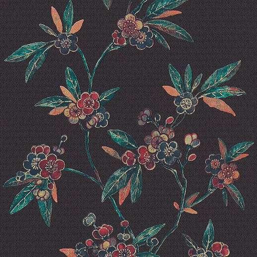 Vlies design tapéta keleties hangulatú virágmintával