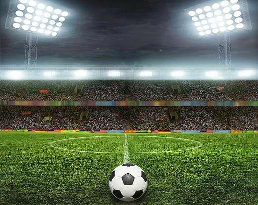 Vlies fali poszter gyerekszobába foci stadion mintával