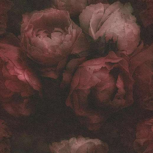 Vörös rózsa mintás vlies vinyl mosható felületű tapéta