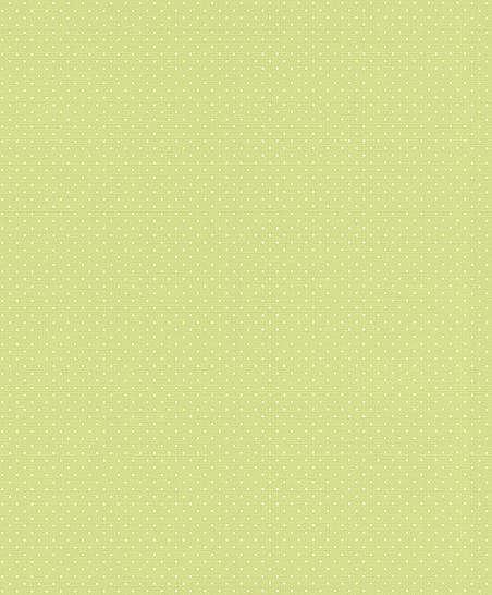 Zöld alapon fehér apró pöttyös mintás tapéta