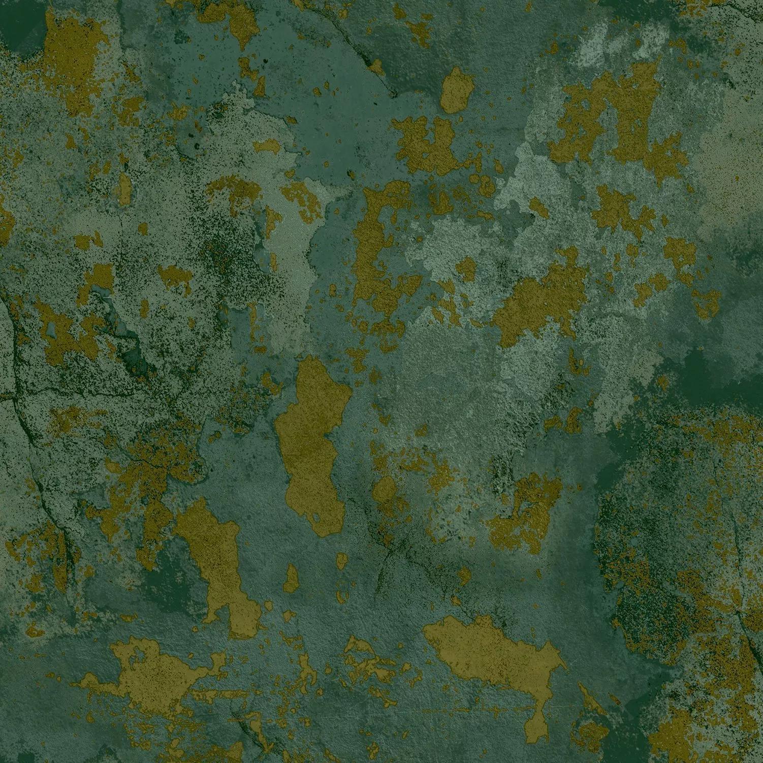 Zöld antikolt vakolat hatású luxus tapéta