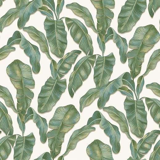 Zöld banánlevél mintás vlies design tapéta