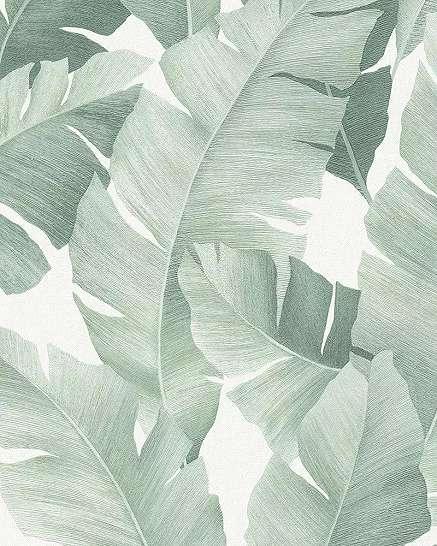 Zöld banánlevél mintás vlies tapéta