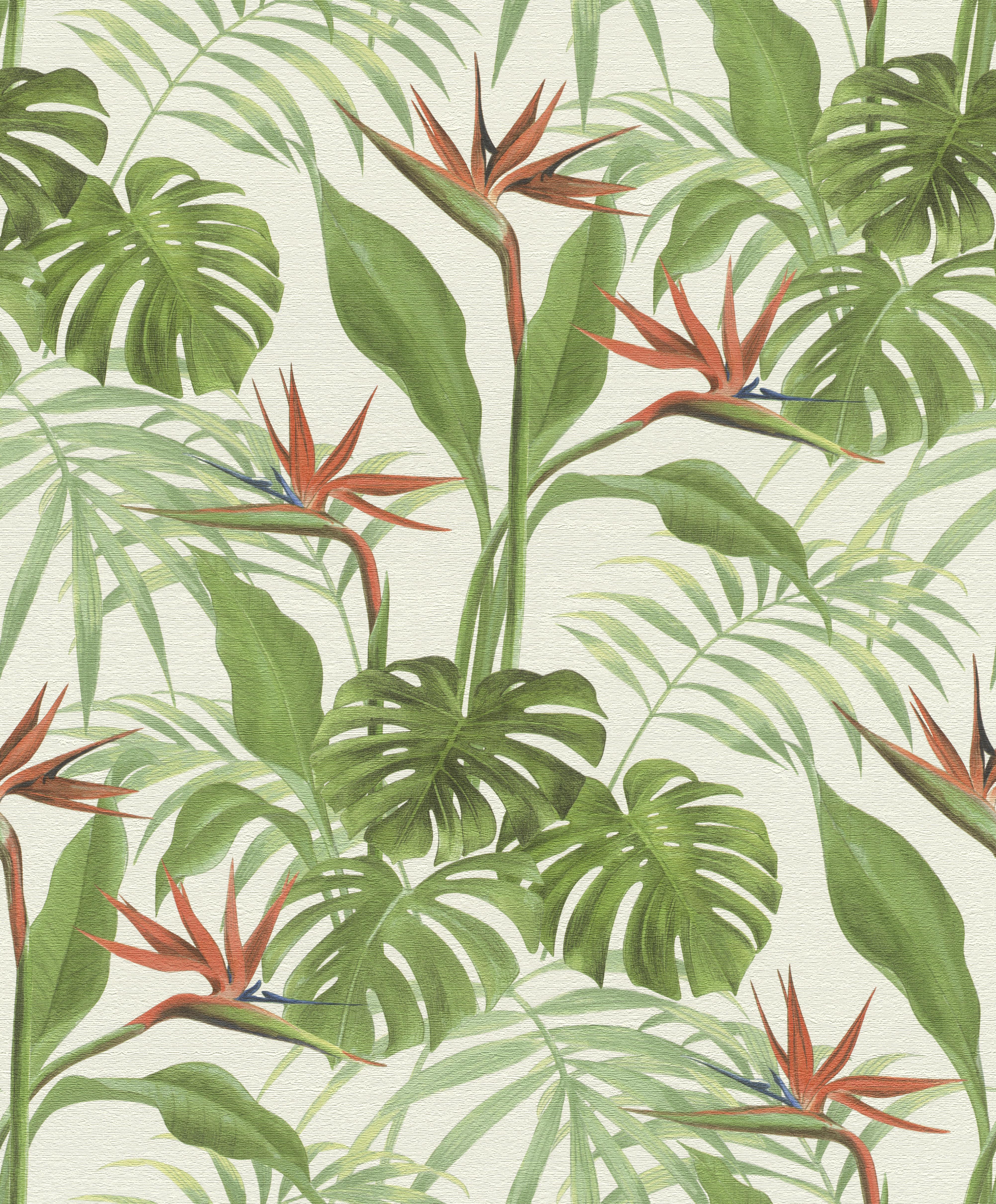Zöld dzsungelhatású tapéta