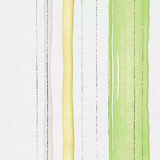 Zöld fehér sárga színű csíkos tapéta
