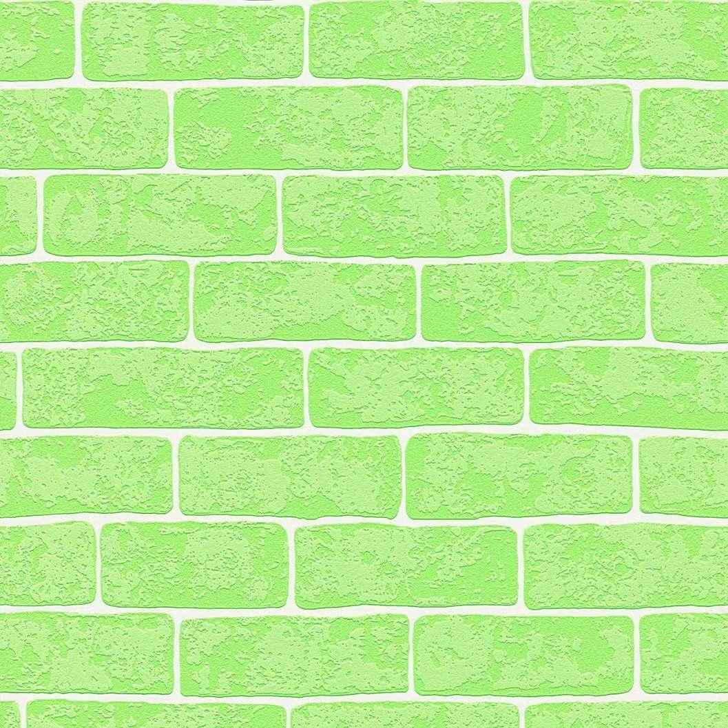 Zöld gyerek téglamintás tapéta