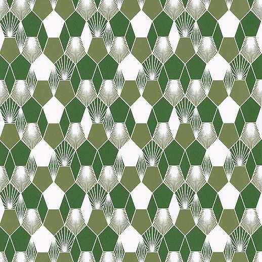 Zöld skandináv stílusú tapéta