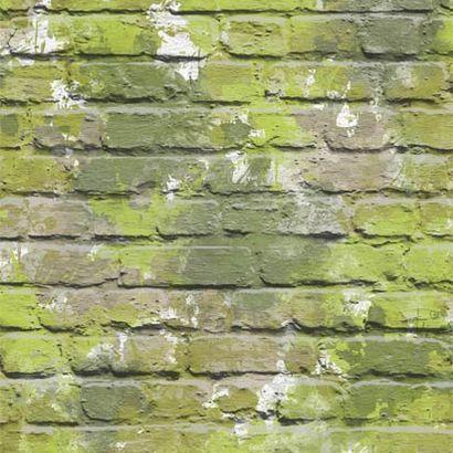 Zöld téglamintás tapéta
