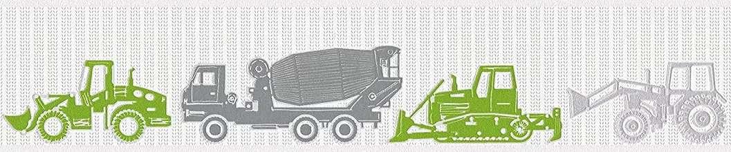 Zöld traktor mintás bordűr