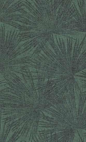 Zöld trópusi levél mintás tapéta modern enteriőrbe