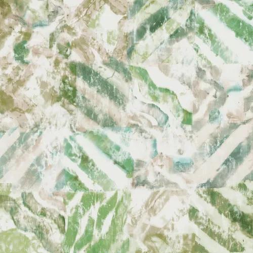 Zöldes festett akvarell hatású desig tapéta